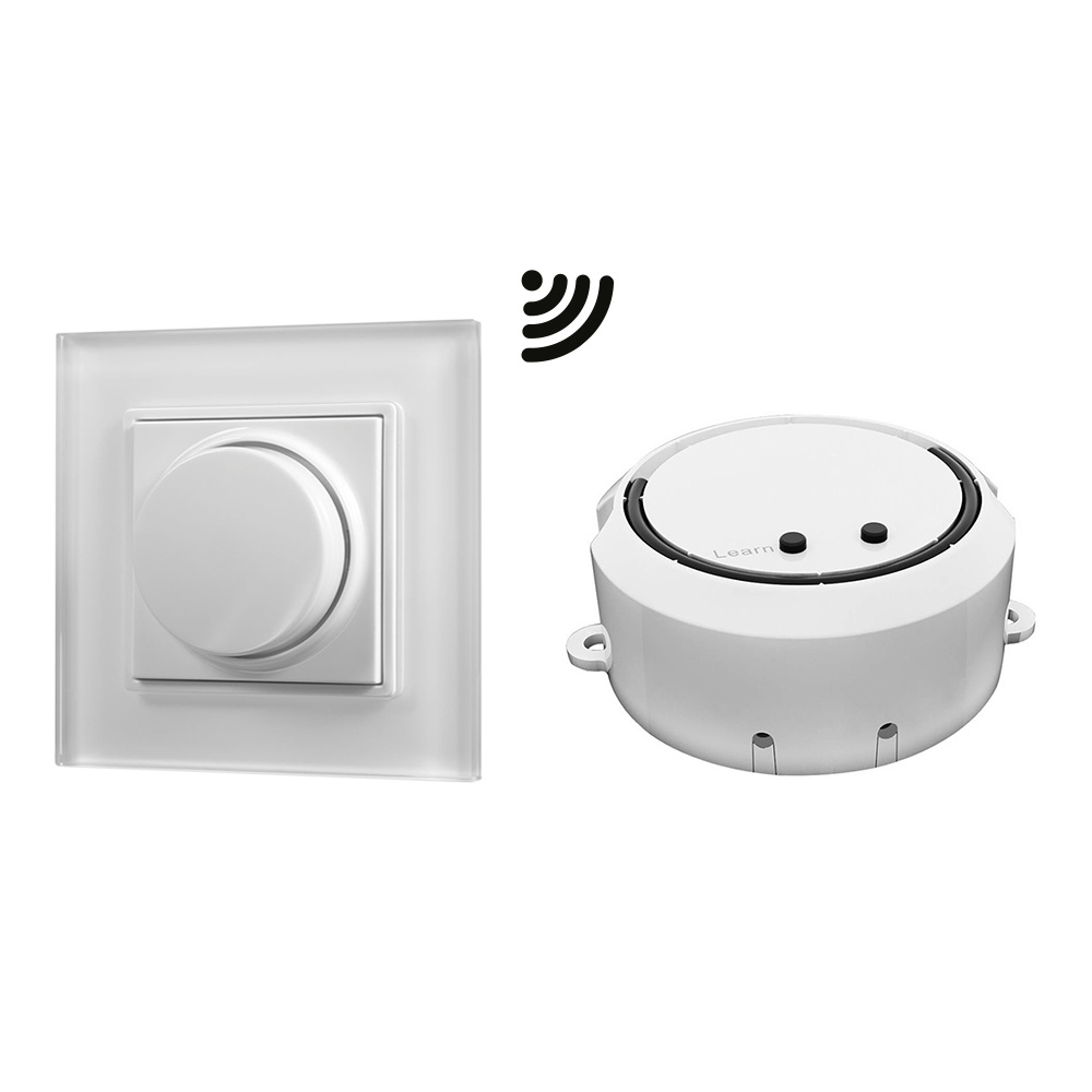 Drahtloser LED-Wanddimmer mit Drehknopf inklusive Empf-nger maximal 100W