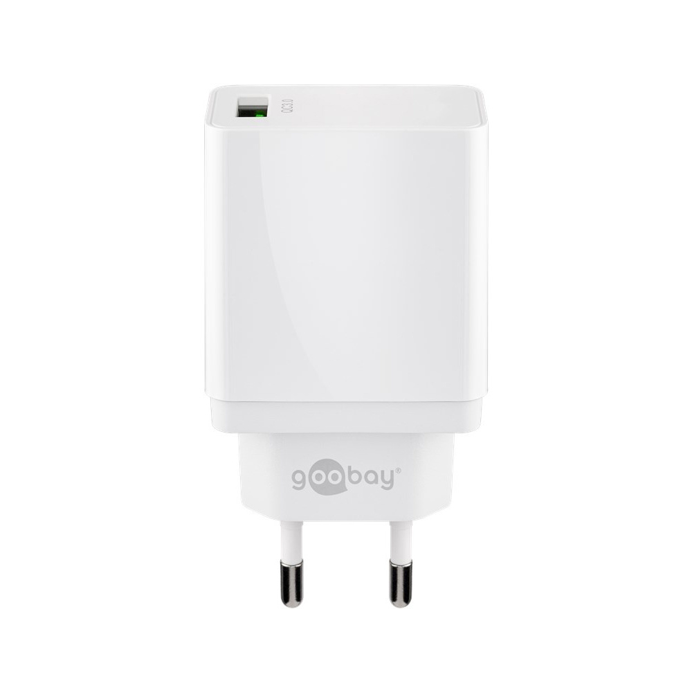 USB-A-Adapter - USB-A-Ladeger-t - CEE 7-16 - USB-A-Adapter - 1 Ports - Quick Charge 3-0 - 3000mA - 18W - Wei-